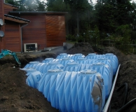 Underground SuperTank cisterns for rain water storage. San Juan Is. WA.