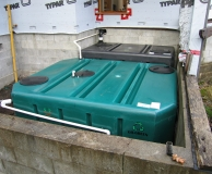 Box Tanks for custom designed septic treatment system.