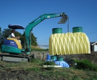 Installation of Septic SuperTank.  Boundary Bay Airport. Delta, BC.