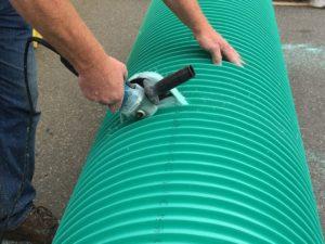 Cutting UltraRib Pipe