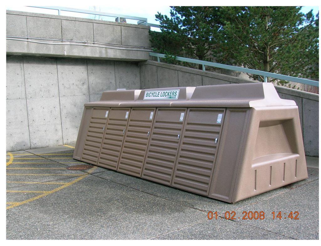 image of bicycle locker at Nanaimo Hospital